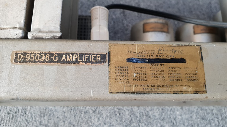 western electric D-95036-G amplifier(WE300A PP)