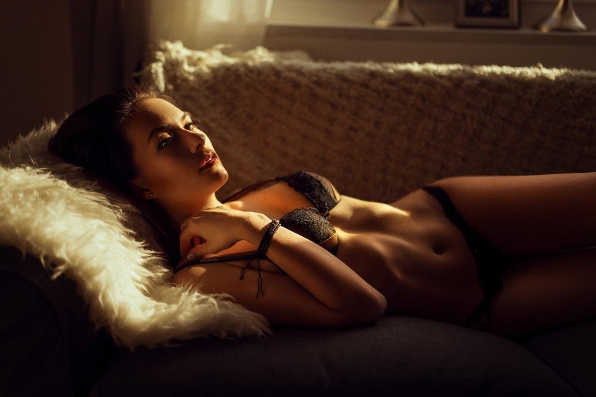 cool girl in lingerie