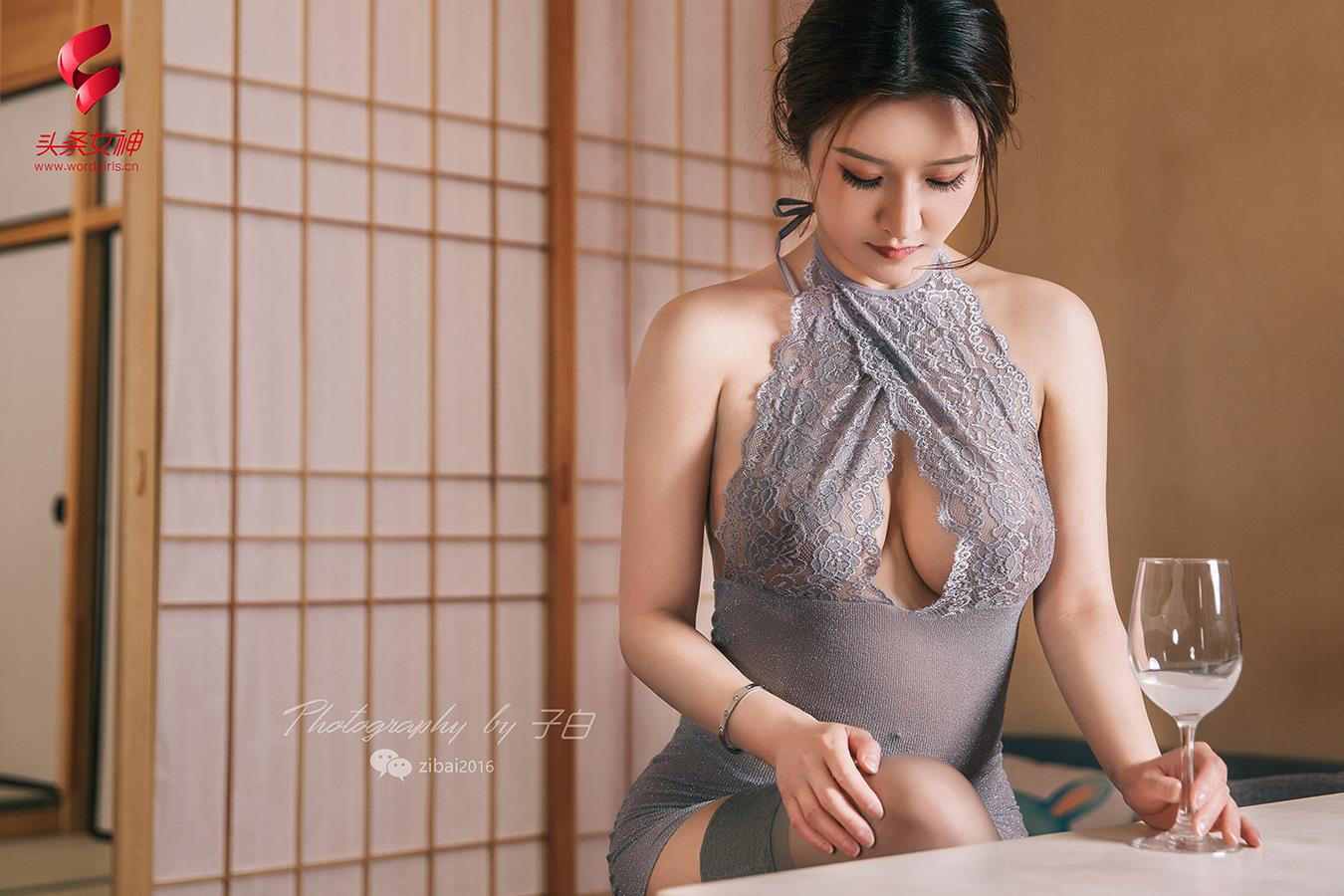 cool Chinese woman in sexy wear